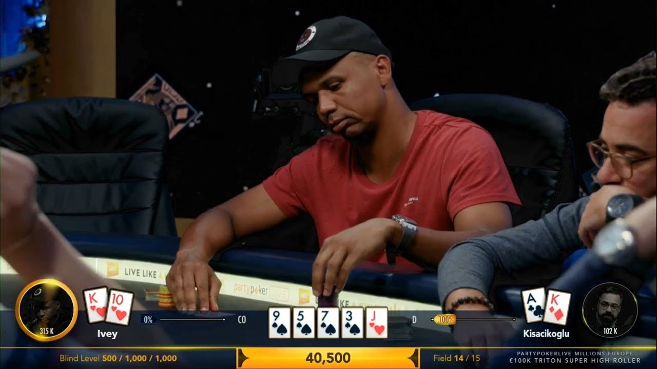 Phil Ivey bluffing at the poker tables